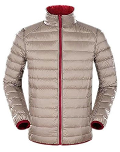 EKU Mens Double Sided Fashion Down Jacket Coats XL Khaki