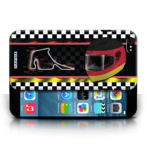 Etui / Coque pour Apple iPhone 6/6S / Allemagne conception / Collection de F1 Piste Drapeau