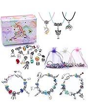 Bedelarmband Making Kit DIY sieraden Making Kit voor kinderen, knutselsets voor meisjes van 8 tot 12 jaar party gunst sieraden geschenken voor jongeren meisjes, verzilverde parel slangenketting sieraden armband