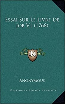 Book Essai Sur Le Livre de Job V1 (1768)