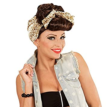 Peluca Rockabilly Pin Up 50 Grease Mujer Pink Lady Schlager Party Wig Musical
