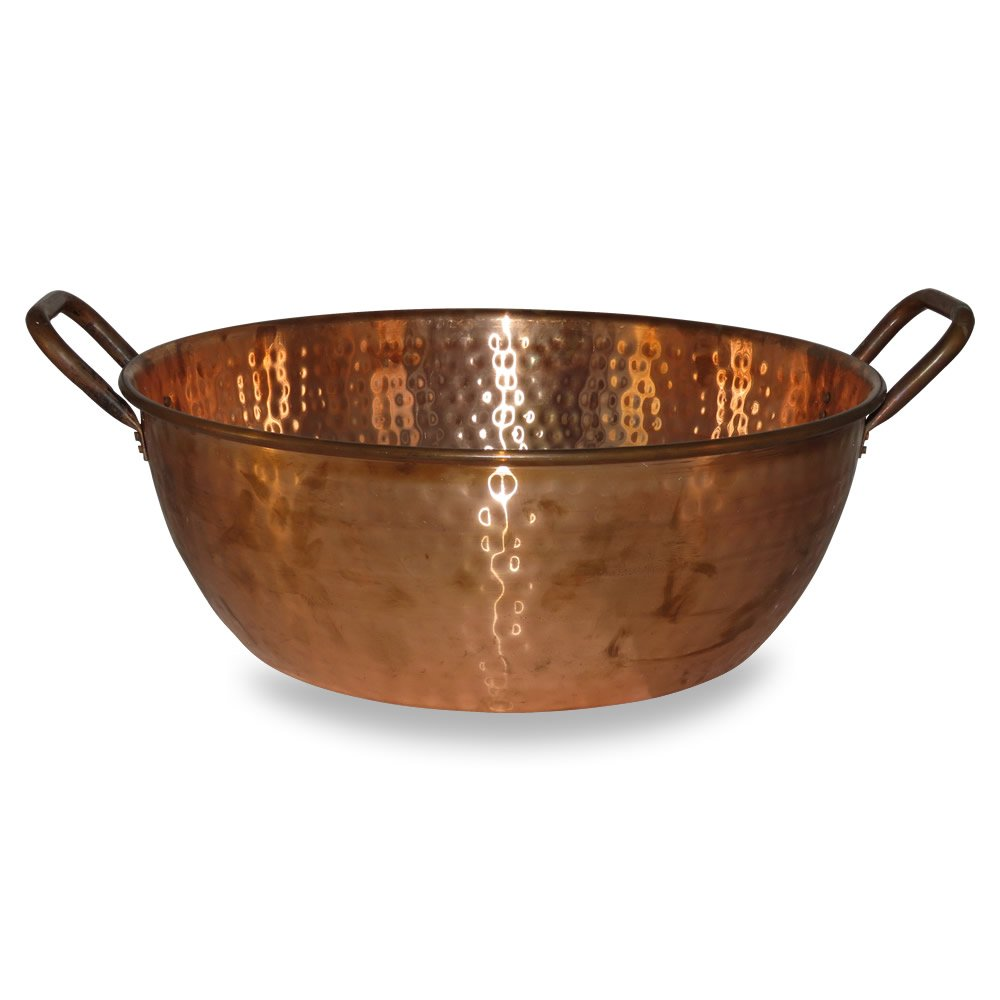 Hand-Hammered Copper Foot-Bath Bowl