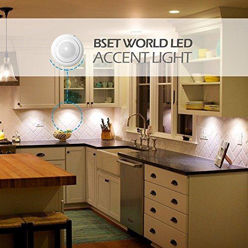 BWL Puck Lights,LED Under Cabinet Lighting,Brightness