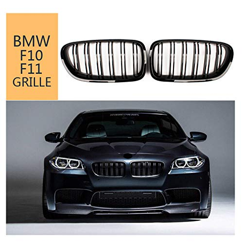 F10 Grilles,Front Replacement Kidney Grille Grill for BMW 5 Series F10 F11 M5 2010-2017 Glossy Black