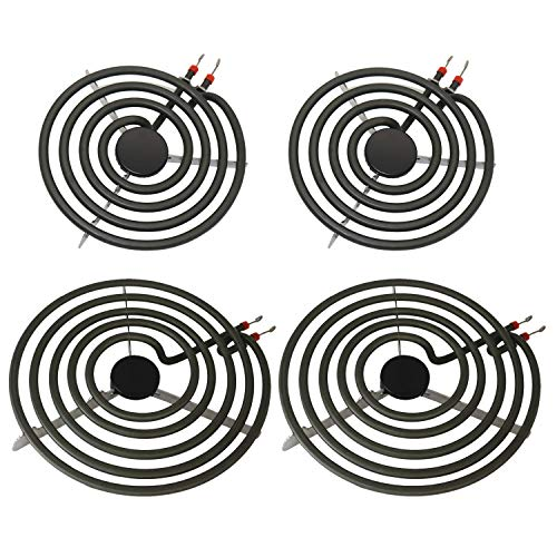 "YEECHUN MP22YA 4 Pack Electric Range Burner Element Unit Set - 2 x MP15YA 6"" and 2 x MP21YA 8"" for Kenmore, Whirlpool, Maytag, Hardwick, Jenn Air, Norge"