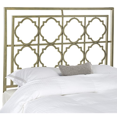 Safavieh Home Collection Silva French Silver Headboard (Queen) (Metal Gold Headboard)