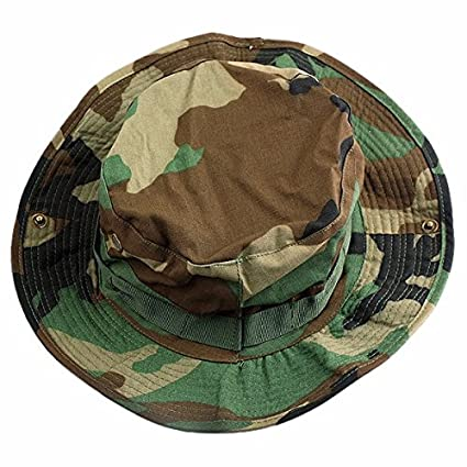 862ab81c squaregarden Military Camo Adjustable Boonie Hat Hunting Bucket Hats /  Woodland Camo