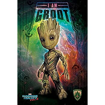 Guardians of The Galaxy Vol. 2 - Movie Poster/Print (Baby Groot) (Size: 24 inches x 36 inches)