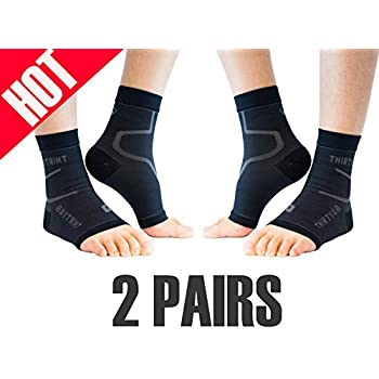 Thirty 48 Plantar Fasciitis Socks, 20-30 mmHg Foot Compression Sleeves for Ankle/Heel Support, Increasing Blood Circulation, Relieving Arch Pain, ...