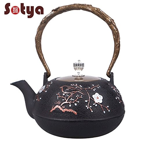 Japanese Cast Iron Teapot Tetsubin Plum Blossom 1.2L