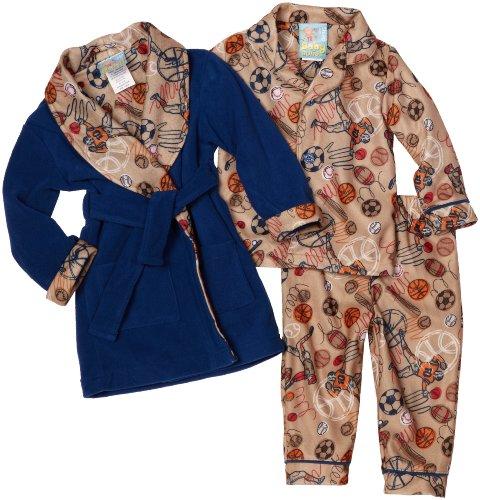 Baby Bunz Baby Boys' All Sport 3 Piece Robe Set