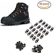 20pcs/set Boot Hooks Lace Fittings With Rivets for Repair/Camp/Hike/Climb Accessories