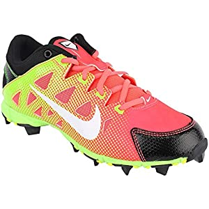 NIKE Girls' Hyperdiamond Keystone GS Softball Baseball Cleats Red/Green Size 5 Y
