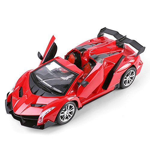 (Best Price Center 1:14 Scale (Red) Italian Exotic Supercar Roadster Convertible Remote Control Model Car)