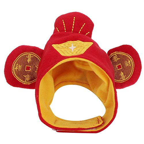 Bicaquu Cute Pet Cat Headwear Chinese Copper Cash Pattern Decoration Hats Fortuna hat]()