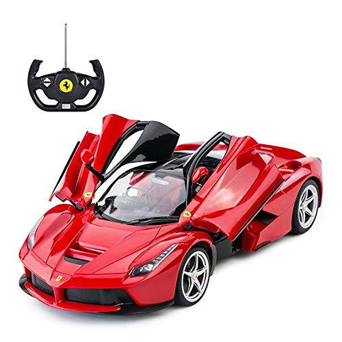 Luccky Cool and Fun Sports Car Plaything Alloy Die Casting Car Drift Sports Car Light Music Power Sports Car Rechargeable Children's Remote Control Car Racing Model Holiday Gift for Kid Son Baby