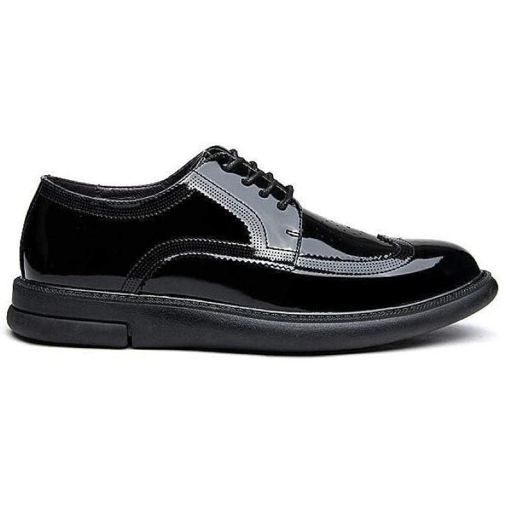 YongBe Herren Brogues Lace-ups Business-Kleid Lackleder Schuhe Schuhe Casual Hochzeit Spitz Smart Schuhe Schuhe schwarz 22c120