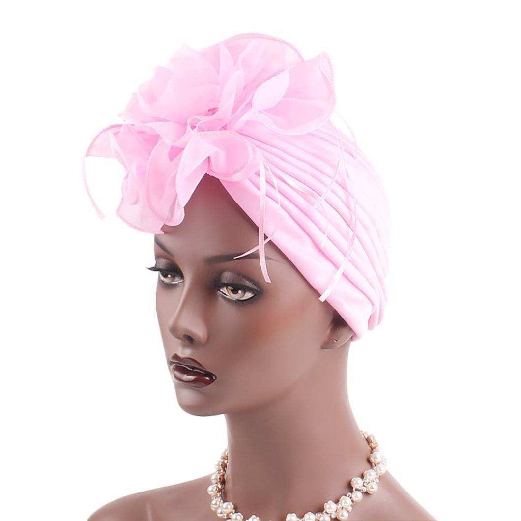 Ouneed Turban Chimioth/érapie Turban Chimio Femme Bonnet /Ét/é Anti UV Mode Chic Hijab Bandana Rouge