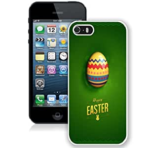 Personalized Phone Case Design with Happy Easter Green iPhone 5s Wallpaper in White