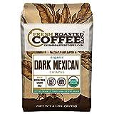 Fresh Roasted Coffee LLC, Dark Mexican Chiapas Coffee, USDA Organic, Dark Roast, Whole Bean, 2 Pound Bag