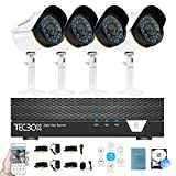 Surveillance Video System 4 Channel 2TB DVR and 4 CCTV Cameras Weatherproof Security Camera System Remote Access Video Camera Kit For Sale