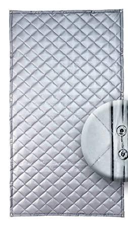 """Singer Safety Single Faced Quilted Fiberglass Panel, 4' Width x 8' Height x 1"""" Thick"""