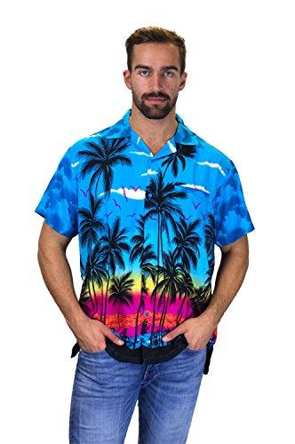 Shirt, Shortsleeve, Beach, Turquoise, 4XL ()