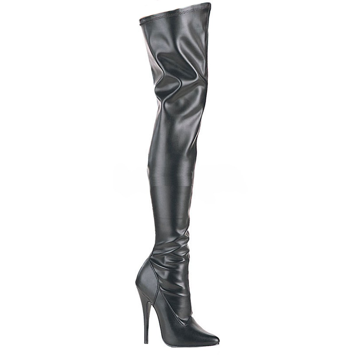 PleaserUSA High-Heel-Overknee-Stiefel Domina-3000  38.5 EU|Mattschwarz