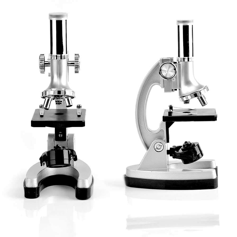 Accessory Set Storage Case 300x 600x 1200x Magnifications Microscope Kit-Metal Arm and Base for Kids Student Beginners Educational Soldering Compound Monocular Biological Microscopes-with 70PCS