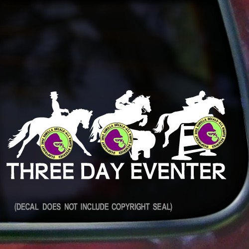jumping horse trailer decal - 4