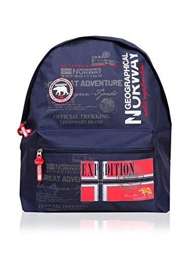 Geographical Norway Mochila Print Azul Marino