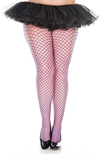 (Plus Size Mini Diamond Net Spandex Pantyhose by Queens Legs)