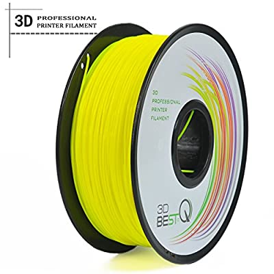 3D BEST-Q 3mm PLA 3D Printer Filament 1KG Spool (2.2lbs), Actual Diameter 2.85mm +/- 0.05mm, yellow