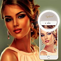 Circle Lights for iPhone Selfie Ring Light, Raphycool 36 LED Fill-in Lighting for Girl Makeup Lights Night Darkness Spotlight iPhone 7 6s Plus Samsun Galaxy SmartPhones iPad and Mac Book White