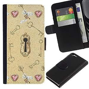 Oíd Valentines Clave Significado Profundo- la tarjeta de Crédito Slots PU Funda de cuero Monedero caso cubierta de piel Para Apple (4.7 inches!!!) iPhone 6 / 6S