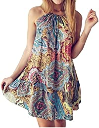 Clearance, Hot 2018 Women Summer Vintage Boho Mini Maxi Evening Party Beach Floral Dress