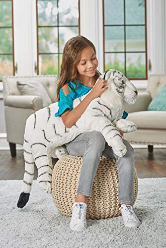 Wild Republic Jumbo White Tiger Plush, Giant Stuffed Animal, Plush Toy, Gifts for Kids, 30""
