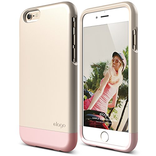 iPhone 6 Case, elago [Glide Limited-Edition][Champagne Gold/Lovely Pink] - [Mix and Match][Premium Armor][True Fit] – for iPhone 6 Only