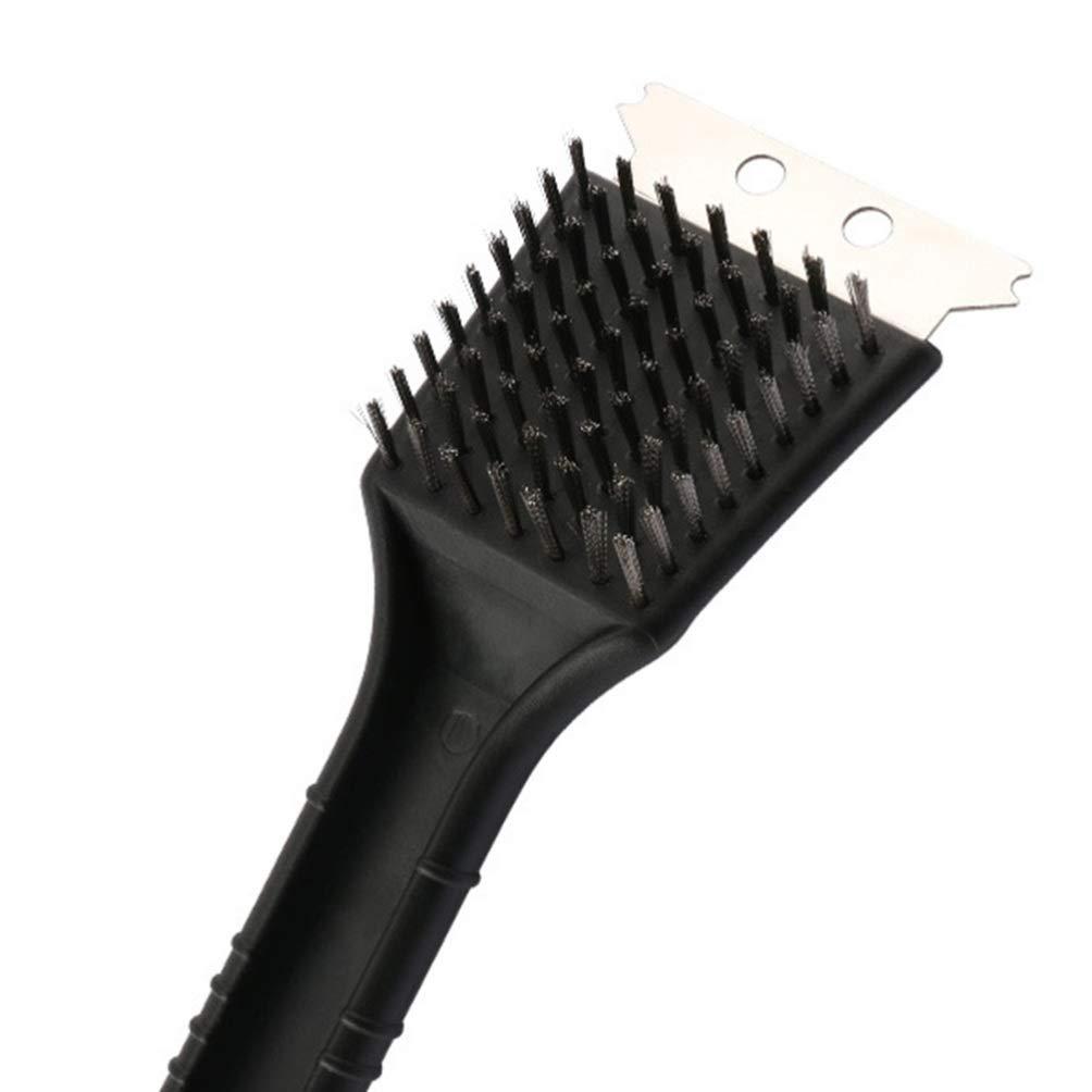 Negro DOITOOL 2 Piezas de Cepillo de Parrilla cerdas de Alambre Barbacoa Horno cepillos de Limpieza Herramientas de Limpieza Accesorios para Barbacoa al Aire Libre en el hogar