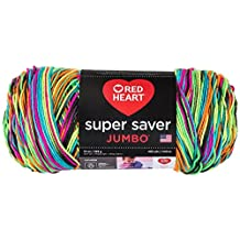 RED HEART  Super Saver Jumbo Yarn, Black Light