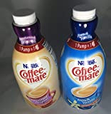 Coffee Mate Liquid Concentrate 1.5 Liter Pump Bottle - Variety 2 Pack (Original Sweetened Cream & French Vanilla)