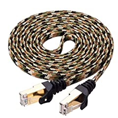 Ruaeoda Cat7 network Ethernet cables are designed to meet the Ethernet cables standard and interconnect technologies.Built for Speed and Reliable Connectivity. Ruaeoda Cat7 network Ethernet cable is capable of transmitting data at speeds of u...