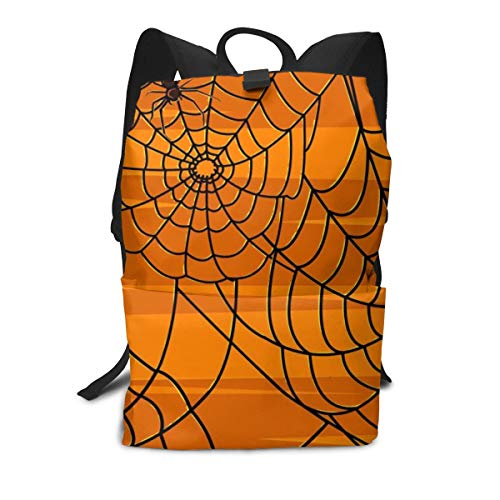 Travel Backpack Business Daypack School Bag Spiders Web Print Large Compartment College Computer Bag Casual Rucksack For Women Men Hiking Camping Outdoor