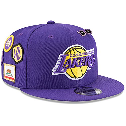 New Era Los Angeles Lakers 2018 NBA Draft Cap 9FIFTY Snapback Adjustable Hat- Purple by New Era