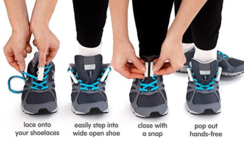 Zubits Magnetic Lacing Solution, Never Tie Laces Again, Grey - #1 - Kids by Zubits (Image #2)
