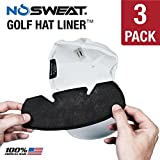 No Sweat Golf Hat Liner & Cap Protection - Prevent Hat Stains / Sweat...