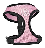 Gooby Soft Breathable Mesh Dog Harness for Small Pets, Medium, Pink
