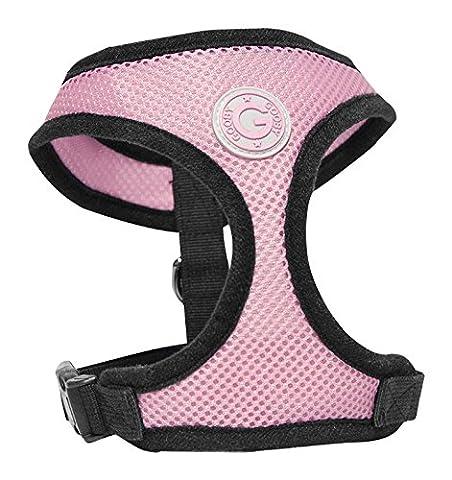 Gooby Soft Breathable Medium Mesh Dog Harness - Pink