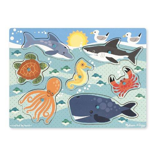 MELISSA & DOUG SEA CREATURES PEG PUZZLE (Set of 3)