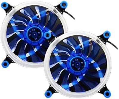 Ventiladores para caja de ordenador,Feicuan 120mm LED silencioso Fans RGB DIY 1300RPM alto flujo de aire CPU Cooler (Blue,Pack of 2): Amazon.es: Electrónica